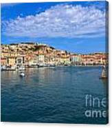 Portoferraio - View From The Sea Canvas Print