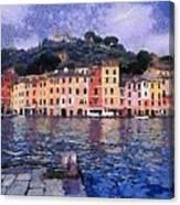 Portofino In Italy Canvas Print
