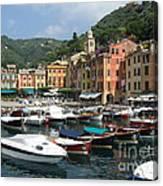 Portofino Port Entrance Canvas Print