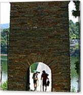 Portomarin Trekkers Canvas Print