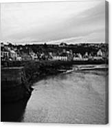 Portpatrick Village And Breakwater Scotland Uk Canvas Print