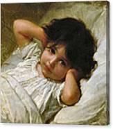 Portrait De Marie-louise  Canvas Print