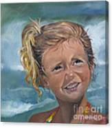 Portrait - Emma - Beach Canvas Print