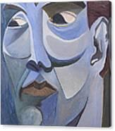 Portrait In Blue Canvas Print
