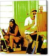 Portrait Of 2 Locke Artists Canvas Print