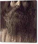 Portrait Of A Bearded Man Canvas Print