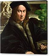 Portrait Of A Collector Canvas Print