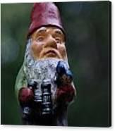 Portrait Of A Garden Gnome Canvas Print