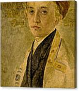 Portrait Of A Jewish Boy  Canvas Print