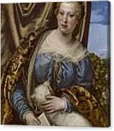 Portrait Of A Lady As Saint Agnes Canvas Print