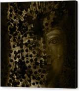 Portrait Of A Leopardess  Canvas Print