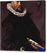 Portrait Of A Man Holding A Skull 1612 Canvas Print