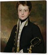 Portrait Of A Midshipman Canvas Print