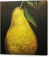 Portrait Of A Pear Canvas Print