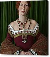 Portrait Of A Tudor Lady Canvas Print