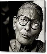 Portrait Of A Woman In Madurai Canvas Print