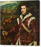 Portrait Of A Young Man As David Canvas Print