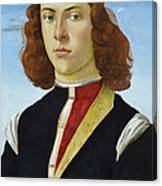 Portrait Of A Young Man Ghirlandaio Canvas Print