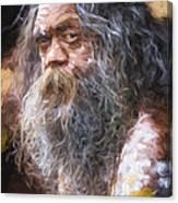 Portrait of an aboriginal Canvas Print