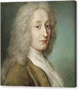 Portrait Of Antoine Watteau 1684-1721 Pastel On Paper Canvas Print