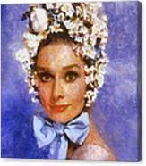 Portrait Of Audrey Hepburn Canvas Print