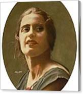 Portrait of Ayn Rand Canvas Print