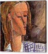 Portrait Of Beatrice Hastings Canvas Print