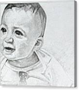 Portrait Of Ben Pencil Drawing Canvas Print