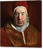Portrait Of Benedict Xiv Canvas Print