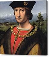 Portrait Of Charles Damboise 1471-1511 Marshal Of France Oil On Panel Canvas Print