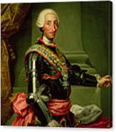 Portrait Of Charles IIi 1716-88 C.1761 Oil On Canvas Canvas Print