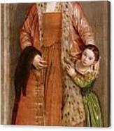 Portrait Of Countess Livia Da Porto Thiene And Her Daughter Deidamia Canvas Print