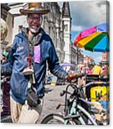 Portrait Of Doctor Luv In New Orleans Canvas Print