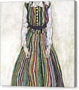 Portrait Of Edith Schiele, The Artists Canvas Print