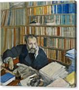 Portrait Of Edmond Duranty, 1879 Canvas Print