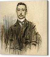 Portrait Of Eduardo Chicharro Canvas Print