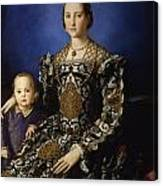 Portrait Of Eleanor Of Toledo With Her Son Giovanni De' Medici Canvas Print