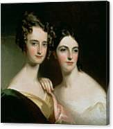 Portrait Of Ellen And Mary Mcilvaine, 1834 Oil On Canvas Canvas Print