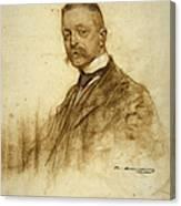 Portrait Of Emile Bertaux Canvas Print