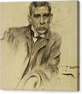 Portrait Of Emili Sala Canvas Print