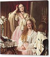 Portrait Of Emma And Frederica Bankes Canvas Print