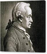 Portrait Of Emmanuel Kant Canvas Print