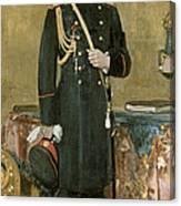 Portrait Of Emperor Nicholas II 1868-1918 1895 Oil On Canvas Canvas Print