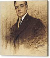 Portrait Of Enric Borras Canvas Print