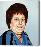 Portrait Of Essie Simon  Canvas Print