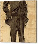 Portrait Of Ezequiel Boixet Canvas Print