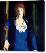 Portrait Of Florence Pierce Canvas Print
