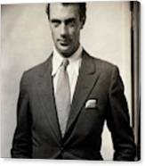 Portrait Of Gary Cooper Wearing A Suit Canvas Print
