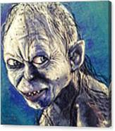Portrait Of Gollum Canvas Print