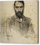 Portrait Of Gustave Violet Canvas Print